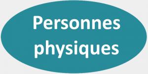Oval bleu gris - Personnes physiques