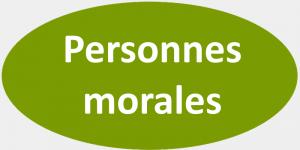 Oval vert gris - Personnes morales